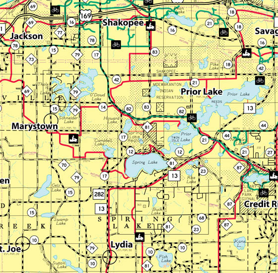 Map Of Cities In Scott County Mn